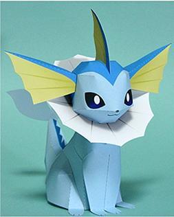 Pokémon Crafts Paper DIY easy brain 3D puzzle Paper type-Co