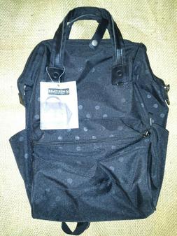 "Heritage Travelware Polka Dot 15"" Laptop Backpack Black One"