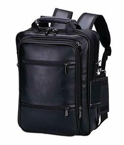 VIDENG POLO Pro Laptop Leather Backpack Multi-Purpose Rucksa