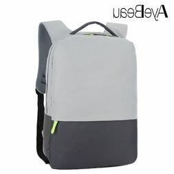 Portfolio School Bag Waterproof Travel Laptop Backpack Male