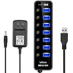 Powered USB Hub Port Splitter -  atolla CH207U3 7 Port USB 3