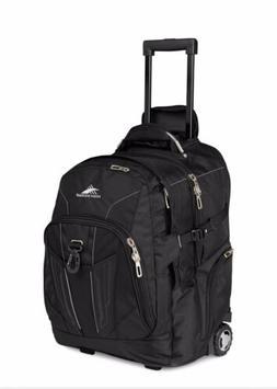 High Sierra Powerglide Wheeled Laptop Backpack - Black