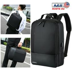 Premium Anti-theft Laptop Men Notebook Backpack USB Charger