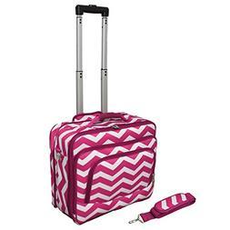 World Traveler Fashion Print Women's Rolling 17-Inch Laptop