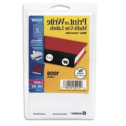 Avery Print or Write Removable Multi-Use Labels, 3/4in dia,