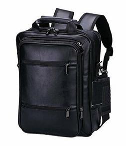 VIDENG Pro Laptop Leather Backpack Multi-Purpose Rucksack Br