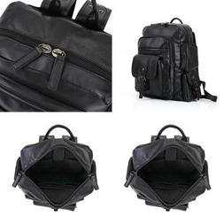 Pu Leather BLACK Bag Handbags Shoulder Bags Laptop Backpack