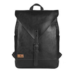 Koolertron PU Leather Laptop Backpack lightweight leather Sc