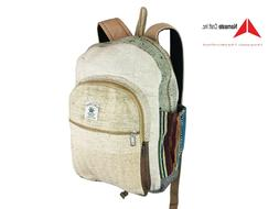 Pure Hemp Travel backpack Multi Pockets laptop Sleeve Fashio