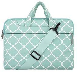 Mosiso Quatrefoil Style Canvas Fabric Laptop Sleeve Case Cov