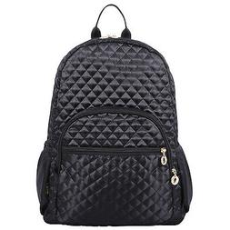 """Quilted Laptop Backpack Bookbag fits15"""" Laptop Ipad Netbook"""