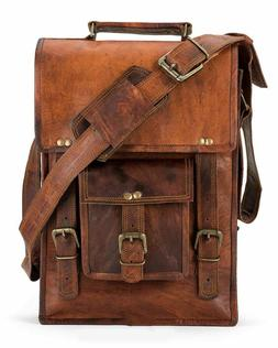 Real genuine leather Men's Backpack Bags laptop Satchel brie