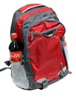 """RED 18"""" SCHOOL BAG BACKPACK COLLEGE LAPTOP SPORTS HIKING CAM"""