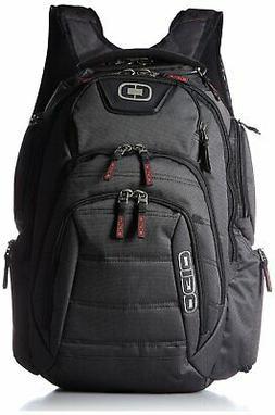 renegade rss laptop back pack black pindot