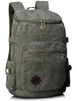 1d7fbdcd4c Leaper Retro Canvas Laptop Backpack School Daypack Hiking Kn