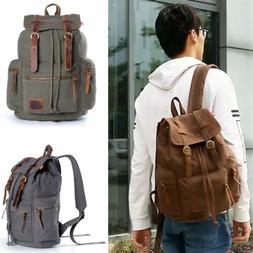 Retro Chic Canvas Men School Travel Casual Shoulder Bag Lapt