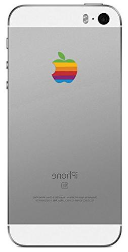 Retro Rainbow Apple iPhone SE Decal Sticker for the iPhone S