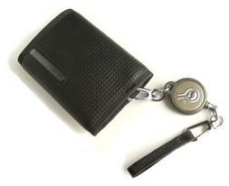 Civilian Rewind Duo Retractable Cable Security Wallet, Black