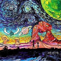 Rick and Morty Art - Starry Night print van Gogh Never Saw A