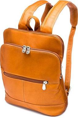 Le Donne Riverwalk Women's Leather Backpack in Tan