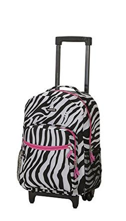 Rockland Luggage 17 in. Rolling Backpack - Animal Print