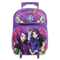 Large Rolling Backpack - Disney - Descendants Cartoon Evie M