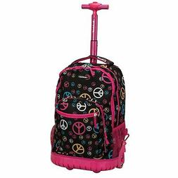Rockland 19 Inch Rolling Backpack, Peace, One Size