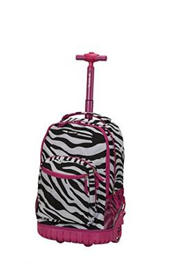 Rockland 19 Inch Rolling Backpack, Pink Zebra, One Size