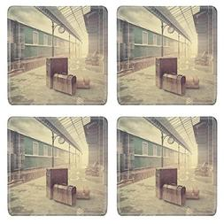 MSD Natural Rubber Square Coasters IMAGE ID: 35316224 fog on
