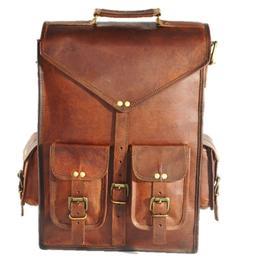 Rucksack Laptop Shoulder Briefcase Messenger Computer Leathe