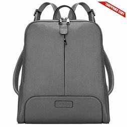 S-ZONE Women Genuine Leather Backpack Purse Travel Bag Fit 1
