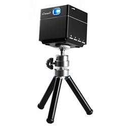 ExquizOn S6 Mini Cube Pico DLP Projector 1080P Supported And