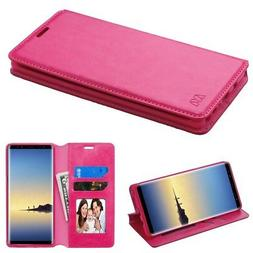FOR SAMSUNG GALAXY NOTE 8 PINK SMOOTH PU LEATHER WALLET FOLI