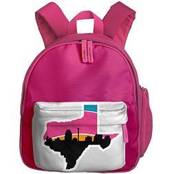 San Antonio Skyline Spurs Oxford Cloth School Bookbag Unisex