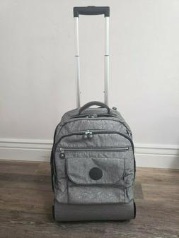 Kipling Sanaa Large Rolling Backpack Wheeled in Metallic Sil