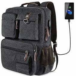 School Backpack Vintage Canvas Laptop Backpacks Men Women Bo