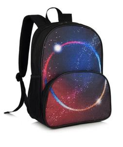 School Backpacks Laptop Backpack Galaxy Red New 14 Inch Wate