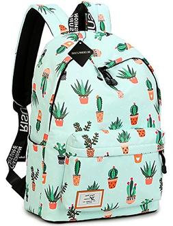 School Bookbag for Girls, Cute Water Resistant Laptop Backpa