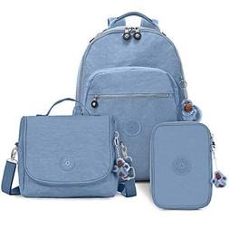 "Kipling Seoul GO Large 15"" Laptop Backpack Dream Blue"