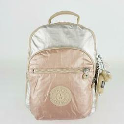 KIPLING SEOUL GO Small Laptop Backpack Toasty Gold Metallic
