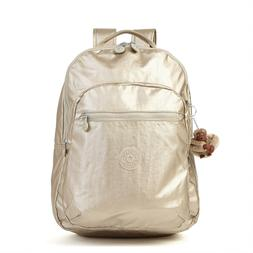 Seoul L Solid Laptop Backpack, Sparkly Gold