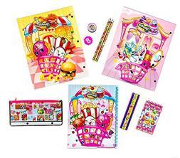 Shopkins School Supplies Bundle - 11 Piece Kit: 2 Laminated