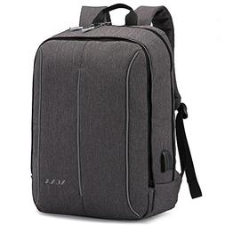 XQXA Slim Business Travel Backpack,17.3 Inch Oxford Water Re