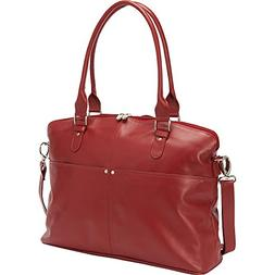 Piel Leather Slim Executive Computer Case, Red, One Size