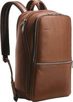 Samsonite Slim Leather Backpack Brown 126036-1221