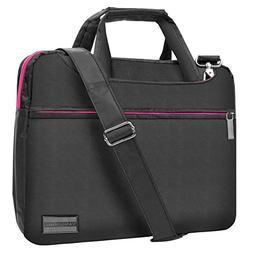 Slim Lightweight Rose Pink VanGoddy Nylon Laptop Messenger B