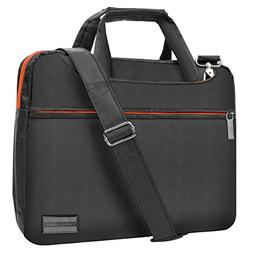 Slim Lightweight Titan Orange VanGoddy Nylon Laptop Messenge