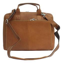 Slim Leather Portfolio w Full Organizer in Saddle