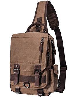 Mygreen Sling Canvas Cross Body 13-inch Laptop Messenger Bag