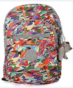 Kipling Small Seoul Print Backpack with Laptop Protection Wa